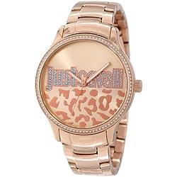 Just Cavalli Damen-Armbanduhr HUGE Analog Quarz Edelstahl beschichtet R7253127507