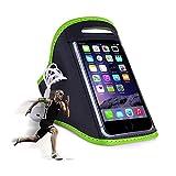 Sportarmband für Handys & Smartphones / Jogging- und Laufarmband / Für Handygrößen von 152x73x7mm bis 158x77,9x9,6mm / grün