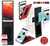 Gionee Marathon M5 Hülle Cover Case in Rot Leder -