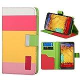 Roar Xperia Z1 COMPACT Handy Hülle Tasche Mädchen, Bookcase Klapp Handytasche, Wallet Etui Schutzhülle für Sony Xperia Z1 COMPACT, Pink Gelb Rosa