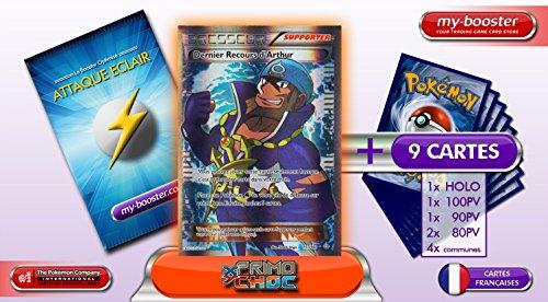 DRESSEUR Dernier recours d'Arthur Full Art 157/160 XY05 PRIMO CHOC - Booster optimisé ATTAQUE ECLAIR de 10 cartes pokemon Francaises