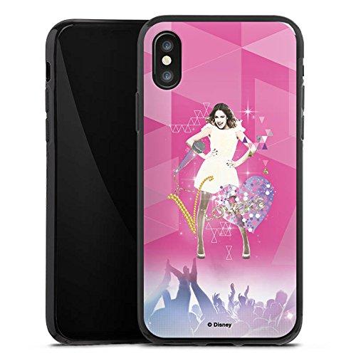 Apple iPhone SE Hülle Case Handyhülle Disney Violetta Fanartikel Geschenke Silikon Case schwarz