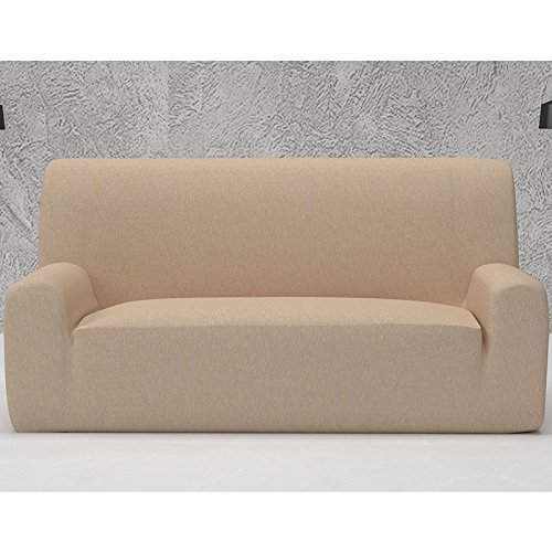 Funda de Sofá Elástica Modelo ARUCAS, Color NEGRO C/11, Medida 4 PLAZAS · 220-270cm