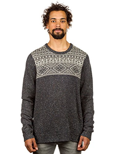 Herren Strickjacke Vans M Tahoe Pullover new charcoal heather/bone