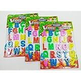 NSinc Magnetic Learning Letters Alphabets, Premium Quality ABC Symbol for Kids, Multicolor (Capital Letters)