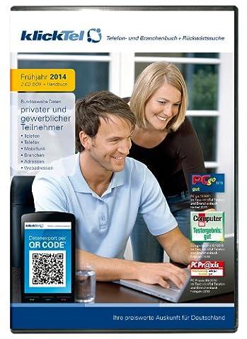 klickTel Telefon- und Branchenbuch inkl. Rückwärtssuche Frühjahr 2014
