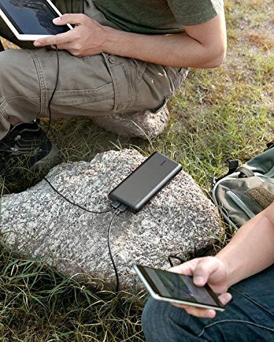 Anker PowerCore 26800mAh Power Bank Externer Akku mit Dual Input Ladeport, Doppelt so Schnell Wiederaufladbar, 3 USB Ports für iPhone X 8 8Plus 7 6s 6Plus, iPad, Samsung Galaxy, Android und weitere Smartphones (Schwarz) - 7