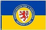 Eintracht Braunschweig Hissfahne, 180 x 120 cm