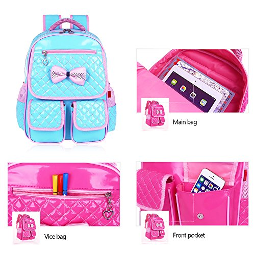 KINDOYO Jungen Mädchen Wasserdichte Rucksack für Kinder Unisex Schulrucksäcke Rucksack für Reisen, Wandern Wasser Blau