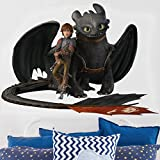 Bilderwelten Wandtattoo Dragons Hicks und Ohnezahn Machen Pause, Sticker Wandtattoos Wandsticker Wandbild, Größe: 30cm x 40cm