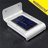 OxyLED Sensor de Movimiento 16 LED Impermeable Solar Powered Brillante al Aire Libre Jardín Patio Path Wall Mount Gutter Valla Luz de Seguridad Lampara SL10