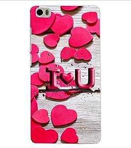 ColourCraft Love Pattern Design Back Case Cover for XIAOMI MI 5