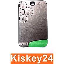 Kis® 3Tasten tarjeta llave con espadín para Renault Laguna II 2Espace IV 4Vel Satis