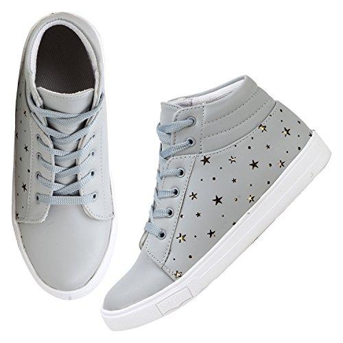 FASHIMO Women's Casual Shoes (EURO-39, Grey)