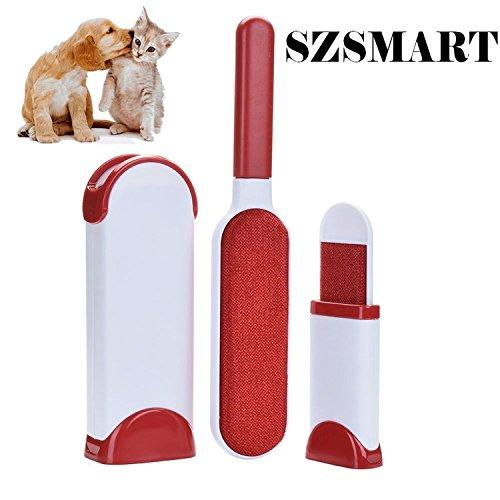 SZSMART Pet Fur & Lint Remover mit Travel Size Wizard Haustier Grooming Bürsten Home Reinigungsbürste Wiederverwendbare Pet Fur Remover mit Selbstreinigung Base