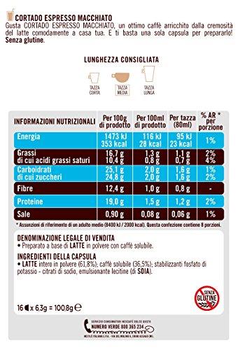 – NESCAFÉ DOLCE GUSTO CORTADO ESPRESSO MACCHIATO Caffè macchiato 3 confezioni da 16 capsule (48 capsule) prezzo