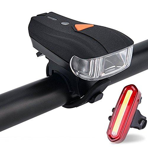 tobole LED Fahrradbeleuchtung Set Superhell wiederaufladbar wasserdicht Fahrradlicht mit 400Lumen Sensor intelligenter Vorderlicht 5Licht Modi und rotes Rücklicht mit 4Modi, kompatibel mit Mountainbikes, straßenrädern, kinder- & city-fahrrädern, erhöhte Sicherheit und Sichtbarkeit