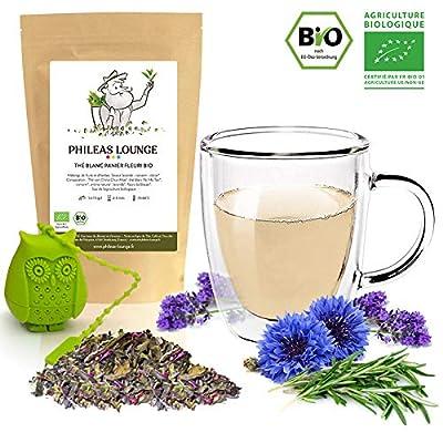 Thé blanc Panier fleuri Bio - thé biologique -80g - Infuseur Chouette offert