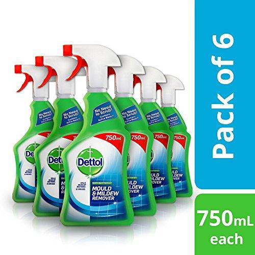Dettol e muffa Remover spray, 750ml, confezione da 6