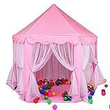 Huntfgold Prinzessin Castle Spielzelt Kinderzelt für Kinder Mädchen Indoor Spielhaus Rosa