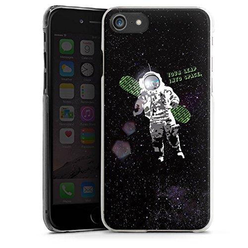 Apple iPhone X Silikon Hülle Case Schutzhülle Astronaut Weltall Fliegen Hard Case transparent