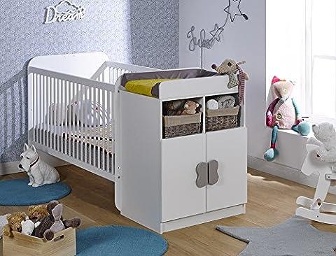 Loupiot MAD1260-014 Madrid Lit Bébé Évolutif Blanc 70 x 140 cm