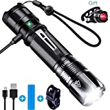 Nestling XPG2 S3 Taktische LED Taschenlampe,IP67 Wasserfest,USB Wiederaufladbar,Super Hell 1000 Lumen CREE LED,5 Licht Modi,Wandern/Camping/Jagen