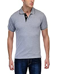 Daniel Estasi Men's Premium Cotton Polo T-Shirt - Grey With Black Tipping