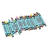 24 Farben Wachsmaler Wachsmalstifte Wachsmalkreiden Crayon Set Kid Kunsthandwerk