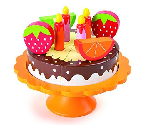 Torta de cumpleaños de madera. Medidas Altura aprox. 13 cm, Ø aprox. 15 cm No apto para niños menores de 3 años.