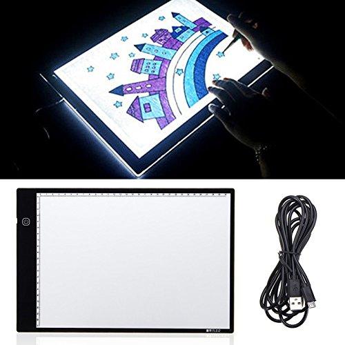 ZHENWOFC DC5V USB 1.5W LED Tracing Licht Box Board Künstler Tattoo A4 Zeichnung Pad Tisch Stufenlos Eingestellt Innenlicht - Zeichnung Dekorative Pad