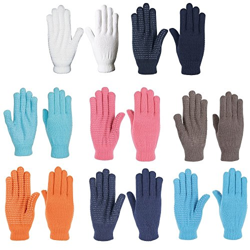 NETPROSHOP Unisex Magic Handschuhe mit Gumminoppen Einheitsgröße, Farbe:Dunkelblau