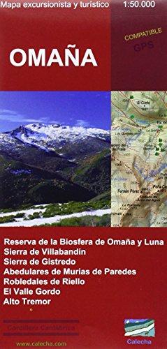 Omaña : mapa excursionista y turístico