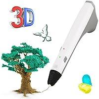 3D Pen, THZY 3D Printing Pen for 3D Modeling, Education, Bonus 2 Free 1.75mm PCL Filament, 3D Doodler Drawing Printing Printer Penfor Kids Adults Arts Crafts DIY (White)