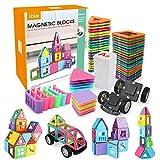 LBLA Blocchi Costruzioni Magnetiche Puzzle di per I Bambini, 85 Pezzi Magneti Giocattolo Educativi Kit DIY Giocattoli Blocchi, Magnetico 3D Arcobaleno Creativo per Bambini