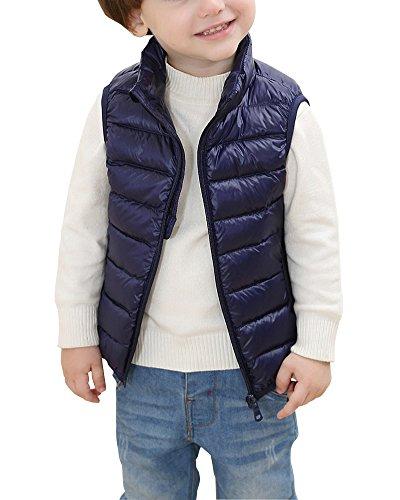 Piumino senza maniche ragazzi bambine inverno giubbotto leggero gilet giacche marina militare 120