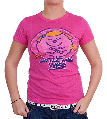 Junk Food Damen T-Shirt Little Miss Wise Pink Größe L -