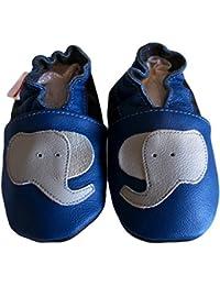 """""""Soft & Chic"""" de BBKDOM - Chaussons bébé et enfant en cuir souple de qualité supérieure de 0-5 ans"""