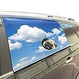 Este producto está diseñado para la seguridad de nuestra mascota, lo que podría impedir que los perros salten por las ventanas. Nuestro material respetuoso con el medio ambiente es seguro para mascotas. Esta cortina de la ventana del automóvil es fác...