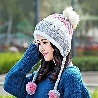 asentechuk® Fashion gorro de punto de lana de invierno las mujeres caliente  niña bola de 4ed842d7885