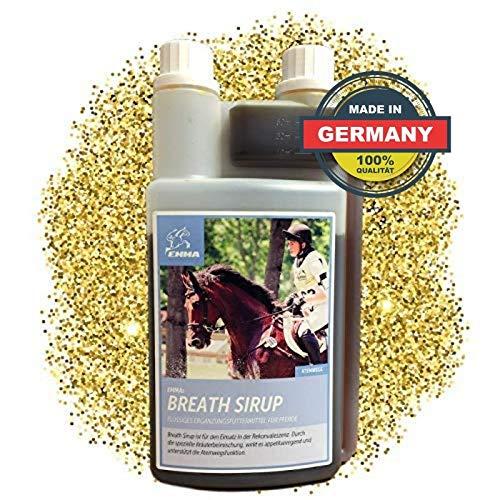 EMMA Hustensaft fürs Pferd I Bronchial Sirup I Bronchialkur I Kräuter Beruhigung Atemwege I Kräutermischung Liquid I Husten Pferd & Pony 1 L