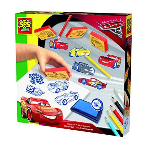 SES Creative - 00918 - Kit De Tampons Disney Cars 3