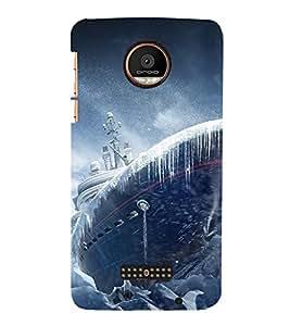 Takkloo Big Ship ( Ice on ship, Vintage ship, Brown ship, Blue Sky) Printed Designer Back Case Cover for Coolpad Max