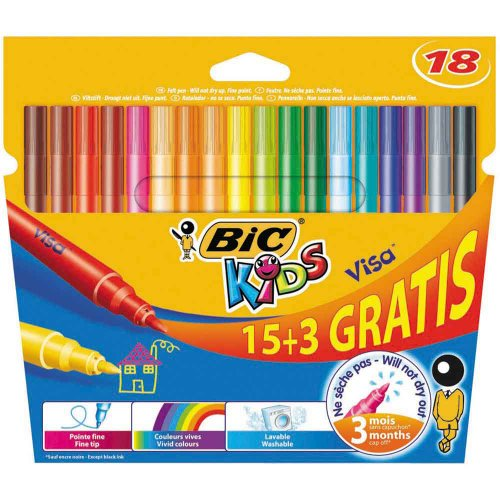 bic-kids-visa-colouring-pens-pack-of-18-15-plus-3