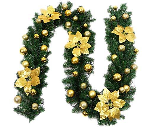 Stmiyi ghirlande christmas rattan 2.7m christmas decorations ghirlanda door hanging rattan decorazione dell'albero di natale in rattan oro