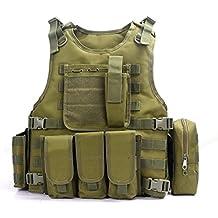 YAKEDA® Hinchas del ejército chaleco táctico Swat Cs campo táctico del ejército del chaleco del chaleco al aire libre Cs del juego del chaleco de Cosplay del juego Counter Strike Vest-322 (verde)