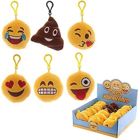Portachiavi con cuscinetto Emoji/Smiley, in 13design, 5cm, 3