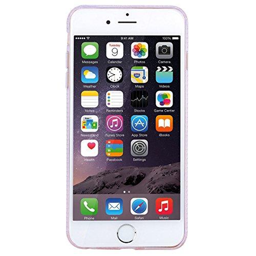 WE LOVE CASE iPhone 6 / 6s Hülle Glitzern Transparent Flüssig Quicksand Diamant Liquid Liebe Sterne iPhone 6 / 6s Hülle Hardcase und Silikon Weich CaseGrün Handyhülle Tasche für Mädchen Elegant Backco Pink 2