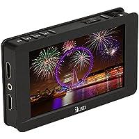 IKAN DH5e 12,7 cm (5 Zoll) 4K Touch Screen LCD Field Monitor mit Canon LP-E6 und Sony L Batterie Adapter schwarz