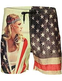 Soulstar Amary Short de bain pour homme nouveau modèle de drapeau américain Imprimé Beach Board Short